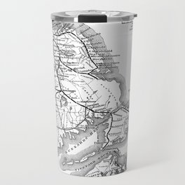 Vintage Cape Cod Old Colony Railroad Map (1875) Travel Mug