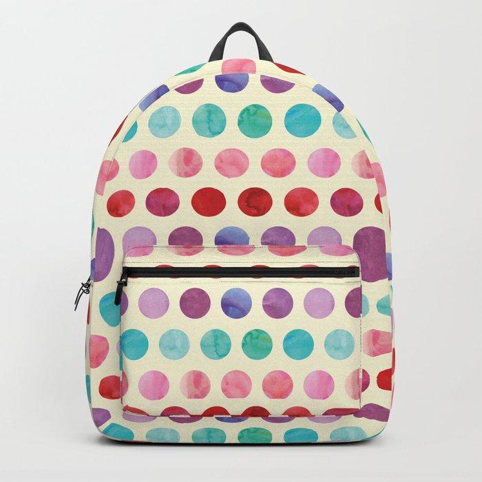 Watercolor Circles Pattern Backpack