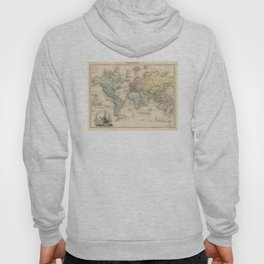 Vintage Map of The World (1892) Hoody