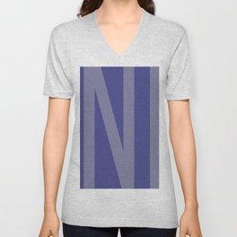 Blue Ink #society6 #ink #minimal Unisex V-Neck