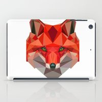 low poly iPad Cases featuring Low poly Fox by exya