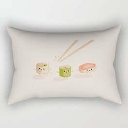 Running Sushi Rectangular Pillow