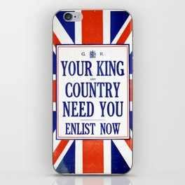 Vintage poster - Your King and Country Need You iPhone Skin
