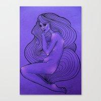 lunar Canvas Prints featuring LUNAR  by Enola Jay