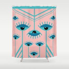 Unamused Eyes - Art Deco Shower Curtain