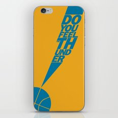Do You Feel the Thunder? (Orange) iPhone & iPod Skin