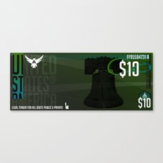 USD Currency // $10 Canvas Print