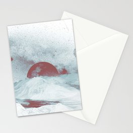 Pink Moon Mountain Stationery Cards