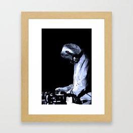 DJ Sloth Framed Art Print