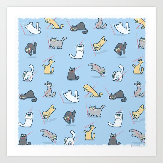 Cats vs Laserpointers Art Print