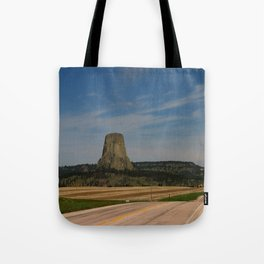 Road To Devils Tower Tote Bag