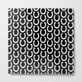 White Horseshoes Metal Print