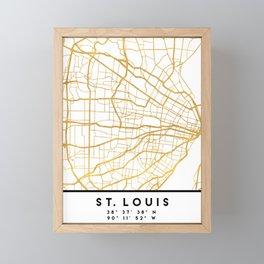 ST. LOUIS MISSOURI CITY STREET MAP ART Framed Mini Art Print