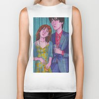hermione Biker Tanks featuring Party Hard (Neville and Hermione) by Anna Gogoleva