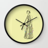 suits Wall Clocks featuring Suits You, Mum. by mentalembellisher
