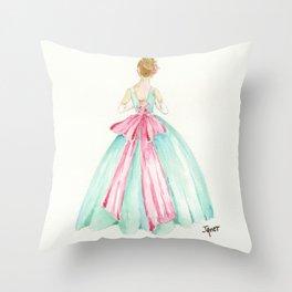 Big Pink Bow Throw Pillow