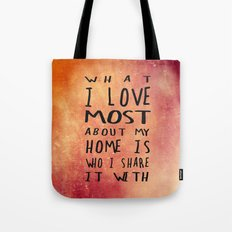 What I like about my home 2 Tote Bag