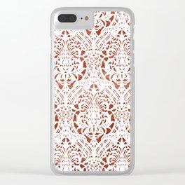 Sanguine Vintage Pattern Clear iPhone Case
