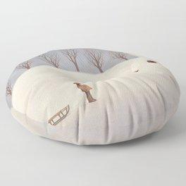 Winter morning Floor Pillow
