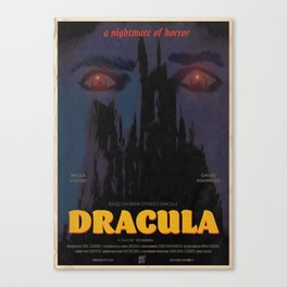 Dracula Movie Poster Canvas Print