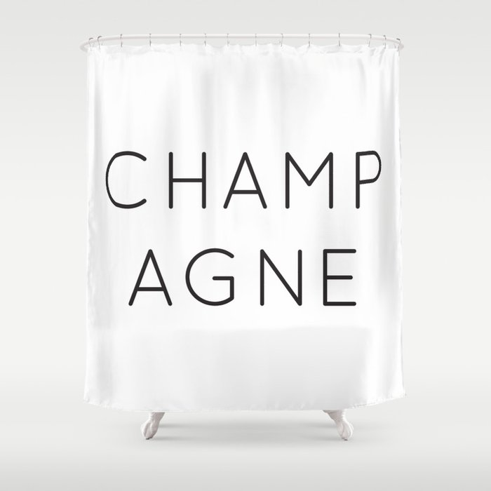 Champagne Shower Curtain By Twoifbysea