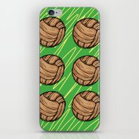 football iPhone & iPod Skins featuring Football by h.oax