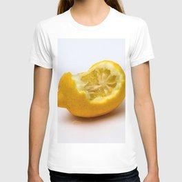 Keep smiling. Half eaten lemon T-shirt