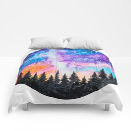 Sunset and Galaxy Comforters