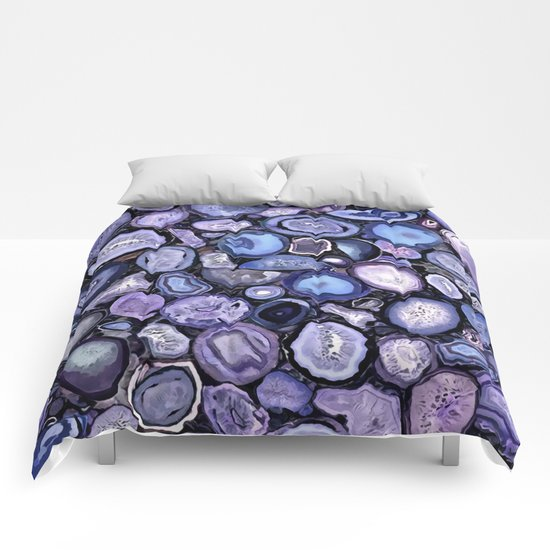 Agate crystals Comforters