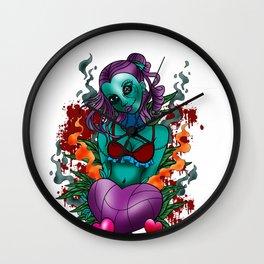 Zombie  Monster  Beast Walking Dead Decedent Gift  Wall Clock
