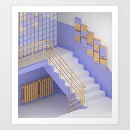 Interior #5 / Подъезд (Stairwell) Art Print