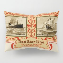 Red Star Line Antwerp New York ocean liners Pillow Sham