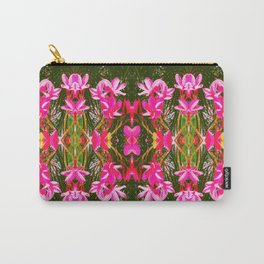 On Matlacha - Tropical Plumeria Leaves Flowers Pink Green Pattern Carry-All Pouch