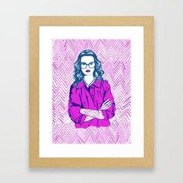Mind Your Own Business Framed Art Print