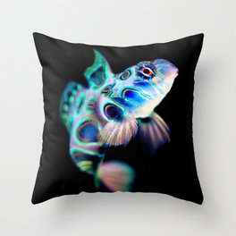 Mandarin Goby (Psychedelic Mandarinfish) Throw Pillow