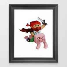Minecraft Avatar H00j0 Framed Art Print