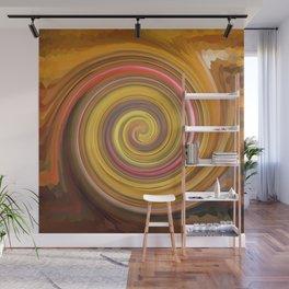Swirls of digital paint Wall Mural