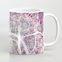 moscow Mugs featuring Moscow by MapMapMaps.Watercolors