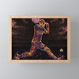 Roger Federer Roger Federer Tennis Match Artistic Illustration Firework Style Framed Mini Art Print