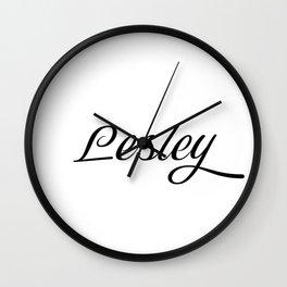 Name Lesley Wall Clock