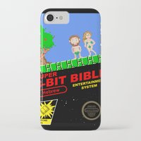 bible iPhone & iPod Cases featuring 8-bit Bible by Jim Lockey