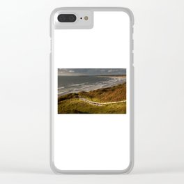 Rhossili bay south Wales Clear iPhone Case