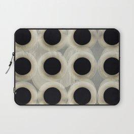 """Black Spots on Grey Cement"" Laptop Sleeve"