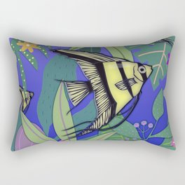Angel Fish #1 Rectangular Pillow