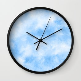 Abstract Cloudy Blue Sky Wall Clock