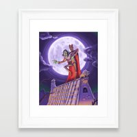 dracula Framed Art Prints featuring Dracula by cheesecake