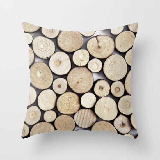 WOOD COLLECTION Throw Pillow