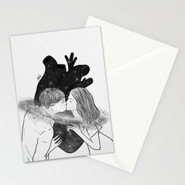 Heart is where we meet. Stationery Cards