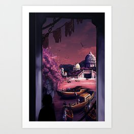 When the boats come in Art Print