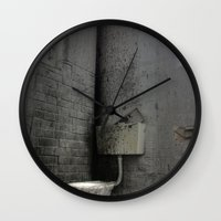 toilet Wall Clocks featuring Toilet Trouble by chillcleal